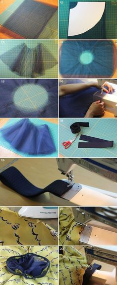 Full Circle Skirt using Tulle. This is a neat way to make a circle skirt or a Tutu skirt! Sewing Hacks, Sewing Tutorials, Sewing Crafts, Sewing Projects, Sewing Patterns, Clothes Patterns, Dress Patterns, Sewing Ideas, Diy Clothing