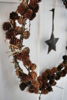 pinecone wreath (detail)