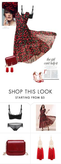 """""""Cherry prints"""" by stellina-from-the-italian-glam ❤ liked on Polyvore featuring Jennifer Lopez and KRISVANASSCHE"""