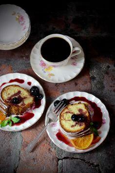 Olive Oil Bundt Cake with Luxardo Glaze, Cherries, and Candied Orange