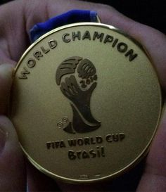 First Place Medal FIFA World Cup Soccer Brazil 2014 Final match July 13, 2014