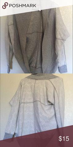 Xhiliration sweater, grey Grey lace print sweater (sweatshirt material) size small/medium, xhiliration brand. Never worn, like new Xhilaration Sweaters