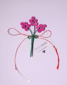 Martisoare Handmade 2018 Quilling - Circul Magic Quilling Flowers, Paper Flowers Diy, Paper Quilling, Diy Paper, Quilling Videos, Diy Projects To Try, 8 Martie, Pink, Handmade
