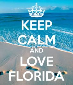KEEP CALM AND LOVE FLORIDA. Another original poster design created with the Keep Calm-o-matic. Buy this design or create your own original Keep Calm design now. Florida Keys, Florida Girl, Florida Living, State Of Florida, Florida Beaches, Florida Funny, Florida 2017, Florida Springs, Florida Style