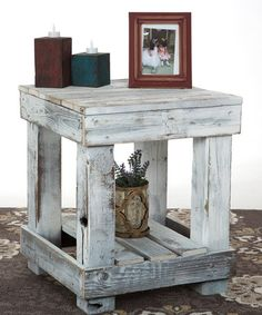Look what I found on #zulily! White Distressed End Table #zulilyfinds
