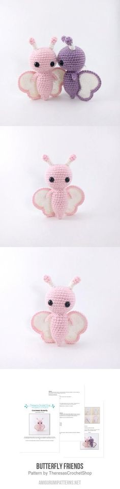 Butterfly Friends Amigurumi Pattern