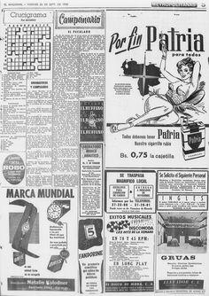 Cigarrillos Patria. Publicado el 26 de septiembre de 1958.