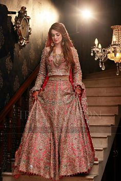 This post features designer Pakistani bridal dresses 2020 for barat day, walima, mehndi ceremony and wedding parties in the latest styles. Pakistani Wedding Outfits, Indian Bridal Outfits, Indian Bridal Fashion, Pakistani Wedding Dresses, Indian Dresses, Eid Dresses, Lehenga Designs, Indian Bridal Photos, Bridal Lehenga