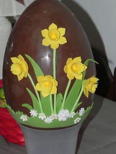 daffodil Easter Egg uovo Pasqua con narcisi