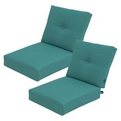 Threshold™ Squier Replacement Club Chair & Loveseat Cushion Set in Turquoise available at Target. Cushions Online, Home Upgrades, Outdoor Spaces, Outdoor Ideas, Outdoor Cushions, Club Chairs, Floor Chair, Outdoor Gardens, Love Seat