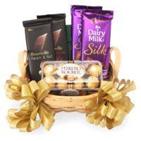 Silk, Bournville and Ferrero Rocher Chocolate Basket