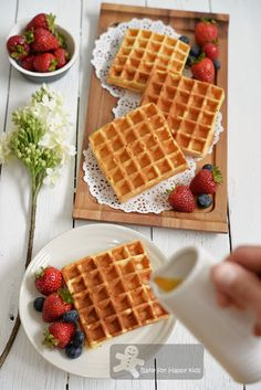 Bake for Happy Kids: Fast and Easy Yeasted Crispy Belgian Style Waffles...