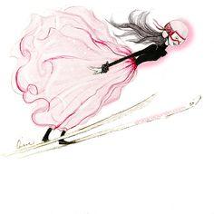 Fashion illustration by Erika Reponen - Ski jump
