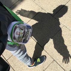 Chasing his own shadow this morning... To infinity and beyond. #kids #parenting #mummyblog #happysaturday