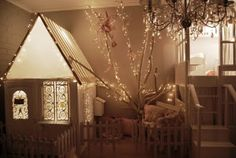 Beautiful little child's room. The lighting is stunning.