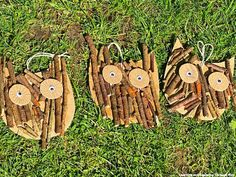 Learning and Exploring Through Play: Twig Owl Craft Butterfly Template, Leaf Template, Flower Template, Crown Template, Owl Crafts, Preschool Crafts, Crafts For Kids, Forest School Activities, Eyfs Activities