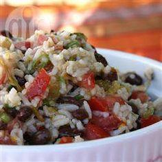 Black bean and brown rice salad recipe - All recipes UK Rice Recipes, Whole Food Recipes, Salad Recipes, Vegan Recipes, Cooking Recipes, Savoury Recipes, Vegetable Recipes, Healthy Salads, Healthy Eating