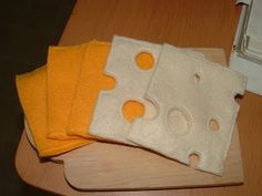 Pieces by Polly: Sliced Cheese - Felt Food Cook Along - Day 18