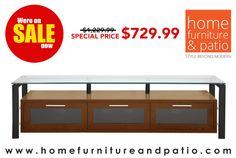 "Great News! Plateau Decor 71 Wb/Bg Wood And Glass 71"" Tv Stand, Walnut Finish - On Sale! #mediastand #tvstand"