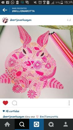 Adult Coloring Books Rabbit Clever