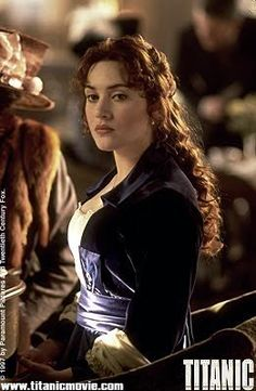 Titanic...my favorite outfit in the movie. The blue/purple worked so great with her red hair.