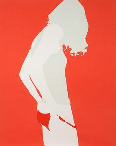Art Crush: Natasha Law / The English Room Blog / Away Orange 60x48