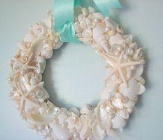 beach decor, beach, nautical decor, seashell mirrors, seashell frames, sea glass, shell wreaths, starfish, seashells