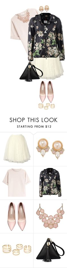 """""""-Spring Is Right Around The Corner!-"""" by mizz-miranda-lynn1993 ❤ liked on Polyvore featuring Alice + Olivia, Carolee, Brunello Cucinelli, Moncler, polyvorecommunity, polyvoreeditorial and WeSimplyLoveAllCreations"""