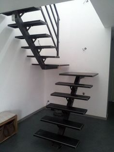 homedecor stairs 27 beautiful metal stairs ideas in 2019 19 JANDAJOSS. Steel Stairs Design, Modern Stair Railing, Stair Railing Design, Home Stairs Design, Metal Stairs, Loft Stairs, Modern Stairs, Interior Stairs, House Stairs