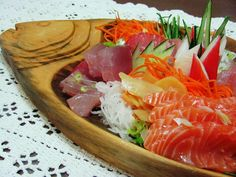 Sashimi, yeah I would eat this by myself.. So what?
