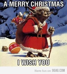 Star Wars Christmas Love!.... See even Yoda still keeps Christ in Christmas!!!!