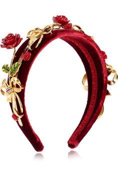 Dolce & Gabbana | Embellished velvet headband AU$1,930 November 2015 | NET-A-PORTER.COM