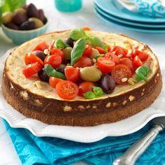 Recept på Cheesecake med pesto och tomater från - Hemmets Journal