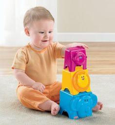 Fisher-Price Growing Baby Animal Stack & Nest Blocks. Recommended age: 9 months - 5 years. Details at http://www.toys-zone.com/fisher-price-growing-baby-animal-stack-nest-blocks/