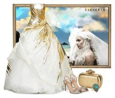 """""""Daenerys"""" by fashionrushs ❤ liked on Polyvore featuring Alexander McQueen and Badgley Mischka"""