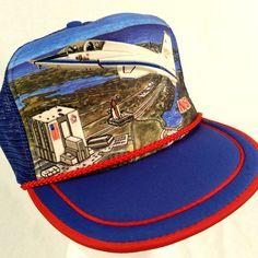 Vtg Nasa Shuttle Astronaut Kennedy Space Youth Trucker Hat Baseball Cap Snapbac #KandiTops #Trucker