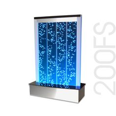 Custom Engraved Table Top Bubble Wall LED Reception Fountain Water Feature 200LE 20""
