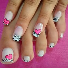 Simple Valentines Day Nail Design