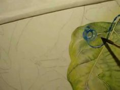 How to paint around Veins of a Leaf in Watercolor - Part 5 (I am going to find all the pieces to this yet)