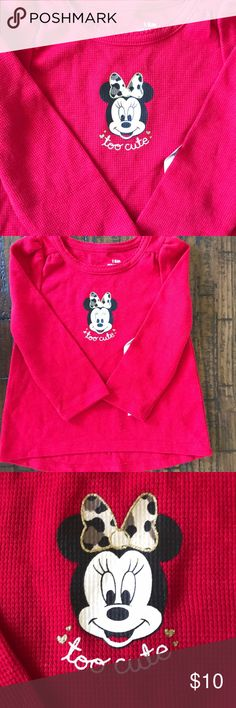 🖤LS WAFFLE KNIT TUNIC🖤 Such a cute shirt, my daughter just grew to fast to wear it••purchased from kohls••thermal tunic w/the back being a little longer••Minnie mouse on the front w/a camouflage bow••60% cotton 40% polyester•• BNWT••any questions, please feel free to ask!! Shirts & Tops