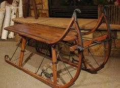 sleigh coffee table. gotta have it!