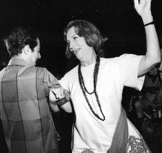 Agnes Moorehead having fun on the dance floor with Vito Scotti