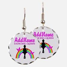 DANCING QUEEN Earring Take 20% Off Your Order Use Code: BAE20 on our beautiful personalized Dancer and Ballerina Jewelry http://www.cafepress.com/sportsstar/10423569 #Dancer #Dancergifts #Ballet #Ballerina  #Personalizeddancer #DancerJewelry