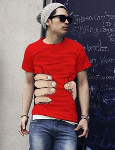 Stylish Clenched Fist Printed Round Neck Short Sleeve Tee For Men, Shop online for $7.80 Cheap T-Shirts code 696079 - Eastclothes.com