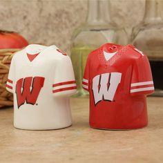 Wisconsin Badgers Jersey Ceramic Salt & Pepper Shakers - $15.99