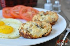 White Cheddar, Sausage Breakfast Biscuits - Low Carb, Gluten Free | Peace Love and Low Carb