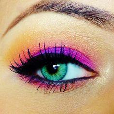 Fuchia and coral eyes