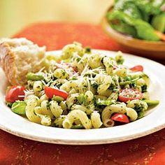 Fava Beans with Pesto and Cavatappi | MyRecipes.com