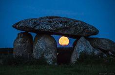 The moon viewed through Haroldstown Dolmen, Co Carlow, Ireland. Thanks to Fergal Gleeson Photography