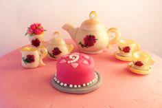 Marzipan Tea Set for Tea Party Birthday